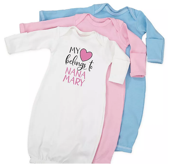 14 Personalized & Sentimental Baby Gifts   Sleeper Gown Set
