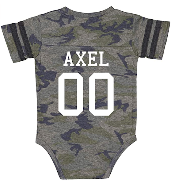 14 Personalized & Sentimental Baby Gifts   Sports Jersey Onesie