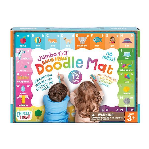 Chuckle & Roar Jumbo 4' x 3' Aqua Draw Doodle Mat