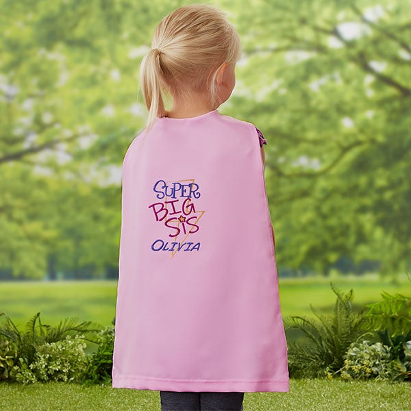 Super Big Sister Personalized Kid's Pink Super Hero Cape
