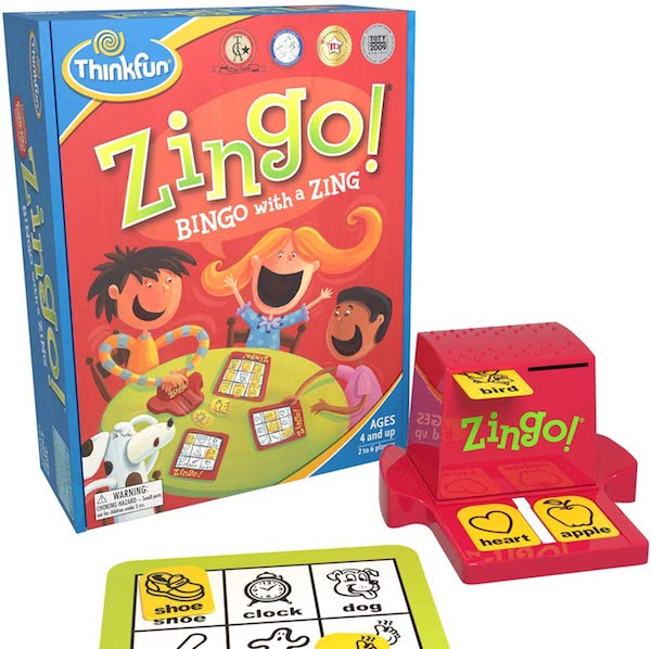ThinkFun Zingo Bingo Award Winning Preschool Game for Pre-Readers and Early Readers Age 4 and Up
