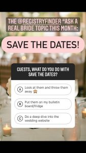 What do you do with Save the Dates