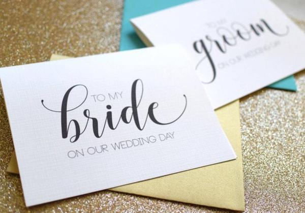 Bride & Groom Gift Exchange | Handwritten Card or Note