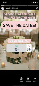 did you send a save the date