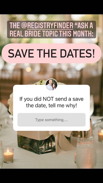 why NOT to send a save the date