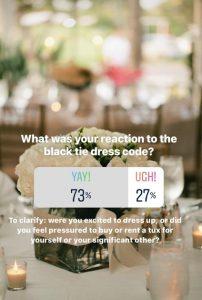 black tie dress code for wedding