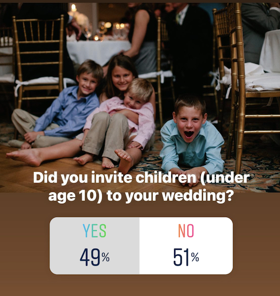 Did you invite children to your wedding?