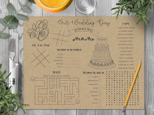 wedding day activity mat-etsy