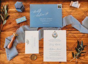 Custom wedding invitations   Invitation layout with details