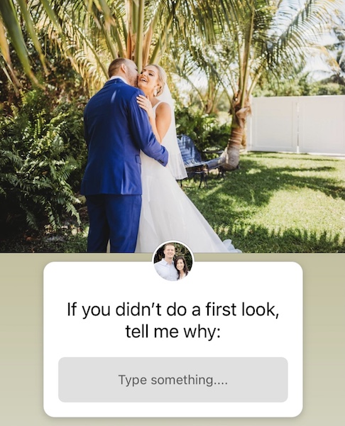 why not to do a first look