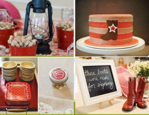Vintage Cowboy (or Cowgirl) Baby Shower Theme