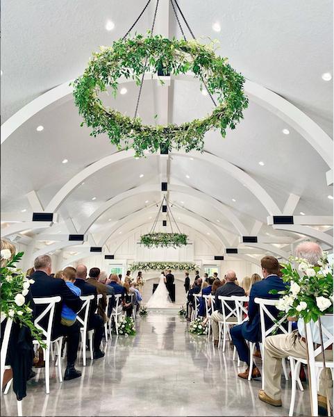 wedding aisle shot